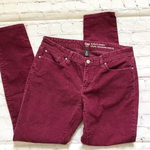 Gap Burgundy Always Skinny Corduroy Pants